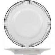 Тарелка мелкая «Жансан Блэк» D=17, H=2.2см; белый, черный