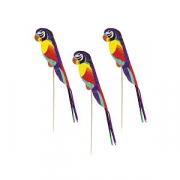 Попугай на палочке [100шт], дерево, H=40,L=228,B=117мм, бежев.,разноцветн.