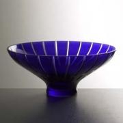 Салатник 35,5 см; «Megaline blue»; синяя
