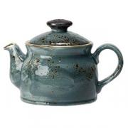 Чайник «Крафт»; фарфор; 425мл; синий
