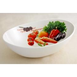 Салатник овальный (большой) «Овощное ассорти» 30х22 см
