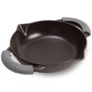 Сковорода чугунная 20 см, 2 ручки с силиконовыми насадками, цвет черный