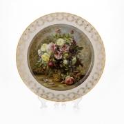 Настенная тарелка 32 см «Цветы 1»