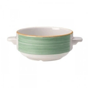 Бульонная чашка «Рио Грин», фарфор, 285мл, белый,зелен.