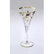 Набор 6 бокалов для шампанского 120 мл «Лаурус» с золотом