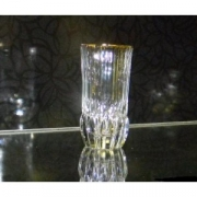 Набор 6 стаканов высоких 400 мл « Адажио» с золотом