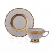 Набор для чая на 6 перс. 12 пр. «Лента золотая матовая 2»