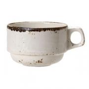 Чашка чайная «Крафт», фарфор, 285мл, белый