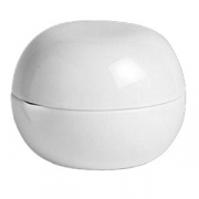 Масленка с крыш. «Аура»; фарфор; D=76мм; белый