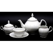 Сервиз чайный 155 мл. «Бернадот белый 311011» на 6 перс. 15 пред
