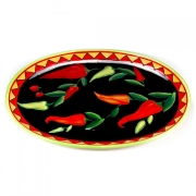 Блюдо овальное 46х34,5см «Красный перец»