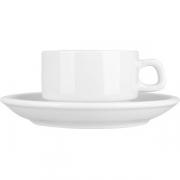 Пара чайная «Коллаж» фарфор; 175мл; белый