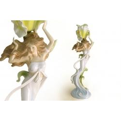 Статуэтка-подсвечник «Ирис» (желтый) 32 см