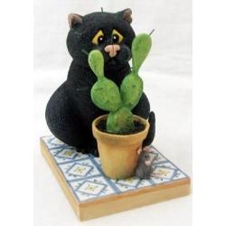 Статуэтка «Кот и кактус»
