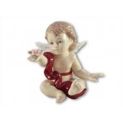Статуэтка Ангелочек (в красном) 10 см.