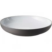 Блюдо глубокое «Солид» D=23.5, H=4.5см; белый, серый