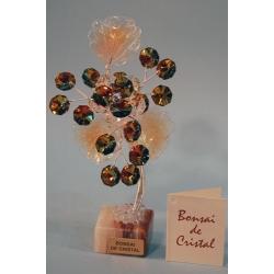 Бонсай с хризантемой топаз 14 см