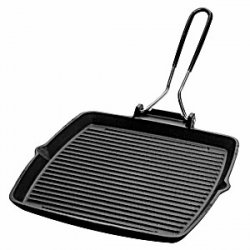 Сковорода-гриль квадр.24*24см чугун