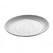 Тарелка мелкая «Зен», пластик, D=25.7см, белый