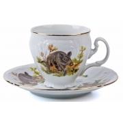 Набор для чая высокие 140 мл. на 6 перс. 12 пред «Бернадот Охота»