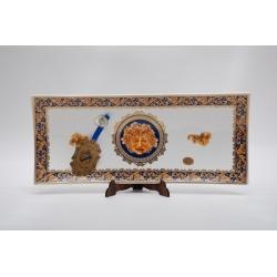 Рулетница.  Фарфор, декор под золото высота 3см,диам.36см