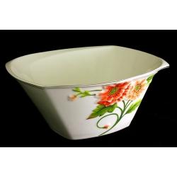 Салатник глубокий 23 см «Цветущий мак»