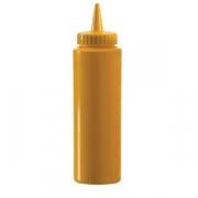 Емкость для соусов, пластик, 700мл, D=65,H=240мм, желт.