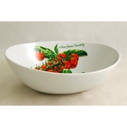 Салатник овальный «Помидоры и оливки» 25х18 см