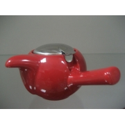 Чайник с ситечком 480мл цвет: Вишня