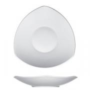Тарелка глуб.треуг. «Опшенс», фарфор, L=30,B=30см, белый
