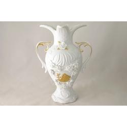 Декоративная ваза для цветов с ручками 31 см