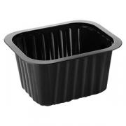 Контейнер для подачи еды [300шт], пластик, H=35,L=138,B=114мм, черный