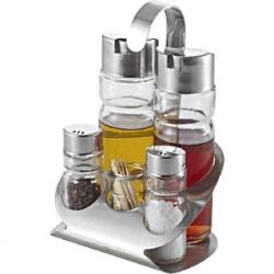 Набор для специй масло, уксус, соль, пер. стак