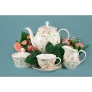 Сервиз чайный 17пр. 6 персон «Садовая Роза»