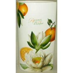 Ваза для цветов «Апельсины и кувшинки» 30 см