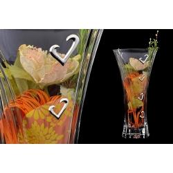Декоративная ваза 35 см с искусственными цветами.Стекло и хрусталь