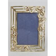 Фоторамка - «Листья» вертик. золотистый 9х13 см.