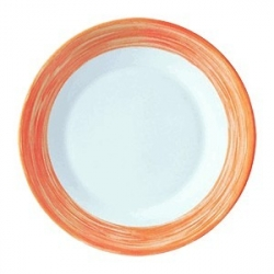 Тарелка «Браш» 25.4см оранж.