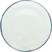 Тарелка для пасты «Органика» D=27см; белый, синий