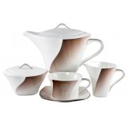 Сервиз чайный 17 предметов «Дюк шоколадный»