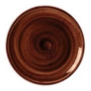 Тарелка мелкая «Крафт»; фарфор; D=23см; терракот