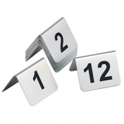 Табличка для нумер.столов с цифрами 1-12 [12шт]