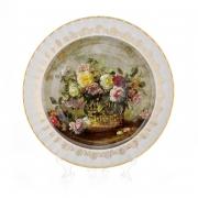 Настенная тарелка 32 см «Цветы 4»