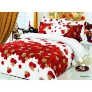 Комплект пос. белье ARYA сатин с одеялом и юб. 200х220 ROSE MARY