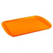 Поднос прямоуг.; пластик; H=15,L=420,B=300мм; оранжев.