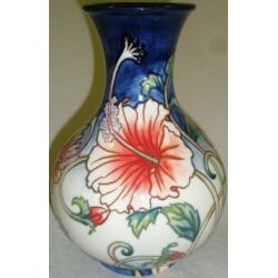 Ваза для цветов (синяя), 21 см