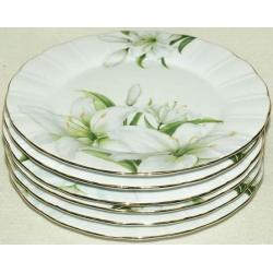 Набор из 6 закусочных тарелок «Лилия» 20 см