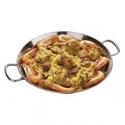 Сковорода для паэльи 2ручки, сталь нерж., D=360,H=42мм
