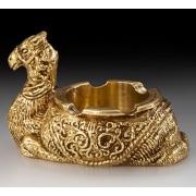 Пепельница «верблюд» цвет - золото 7х11см
