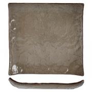 Тарелка квадратная «Кунстверк», керамика, L=15,B=15см, зелен.,коричнев.